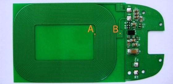 Это катушка, а не спираль - точки А и В соединены между собой с обратной стороны платы.