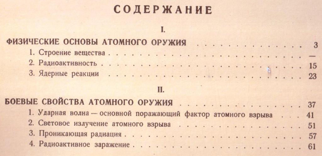 Содержание книги о ядерном оружии